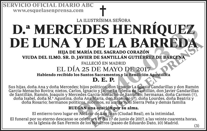 Mercedes Henríquez de Luna y de la Barreda